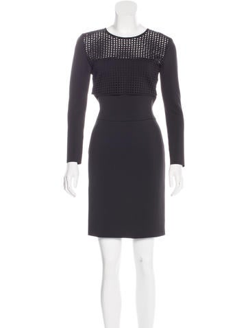 Reed Krakoff Paneled Long Sleeve Dress None