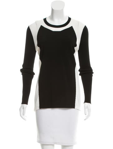 Reed Krakoff Long Sleeve Knit Top None