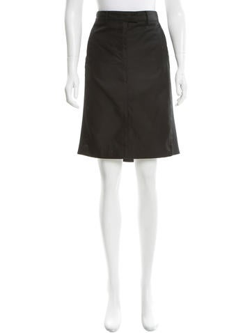 Reed Krakoff Neoprene-Trimmed Pencil Skirt None