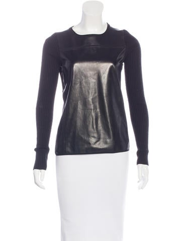 Reed Krakoff Cashmere & Wool-Blend Top None