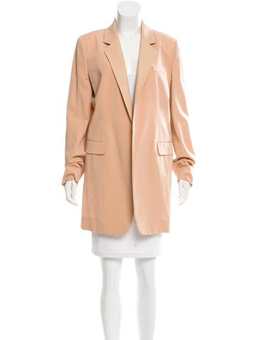 Reed Krakoff Leather-Accented Wool Blazer None
