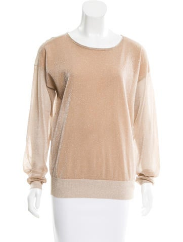Reed Krakoff Metallic Knit Top None