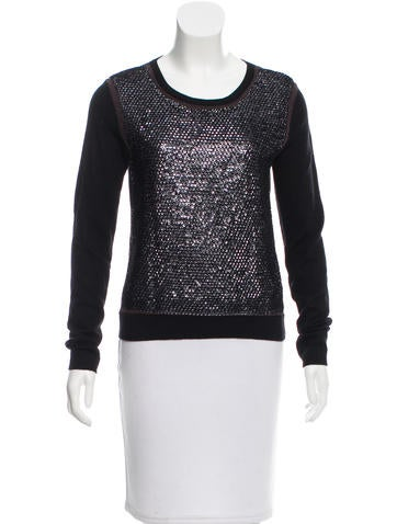 Reed Krakoff Sequined Long Sleeve Top None