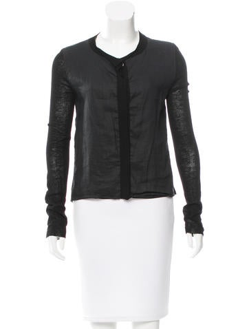 Reed Krakoff Knit Crew Neck Cardigan None