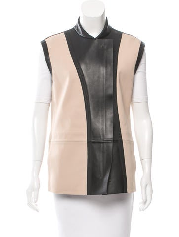 Reed Krakoff Bond Leather Vest w/ Tags None