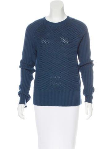 Reed Krakoff Merino Wool Open Knit Sweater None