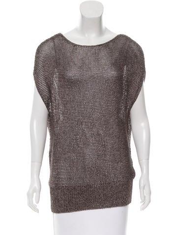 Reed Krakoff Metallic Open Knit Sweater None