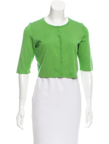Reed Krakoff Cropped Rib Knit Cardigan None