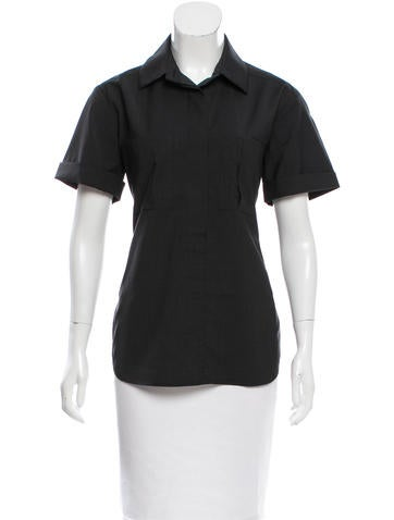 Reed Krakoff Short Sleeve Button-Up Top None