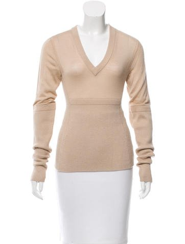 Reed Krakoff Rib Knit V-Neck Sweater None