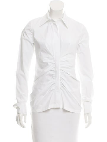 Reed Krakoff Ruched Button-Up Top None