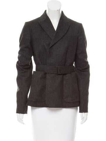 Reed Krakoff Belted Wool Blazer None
