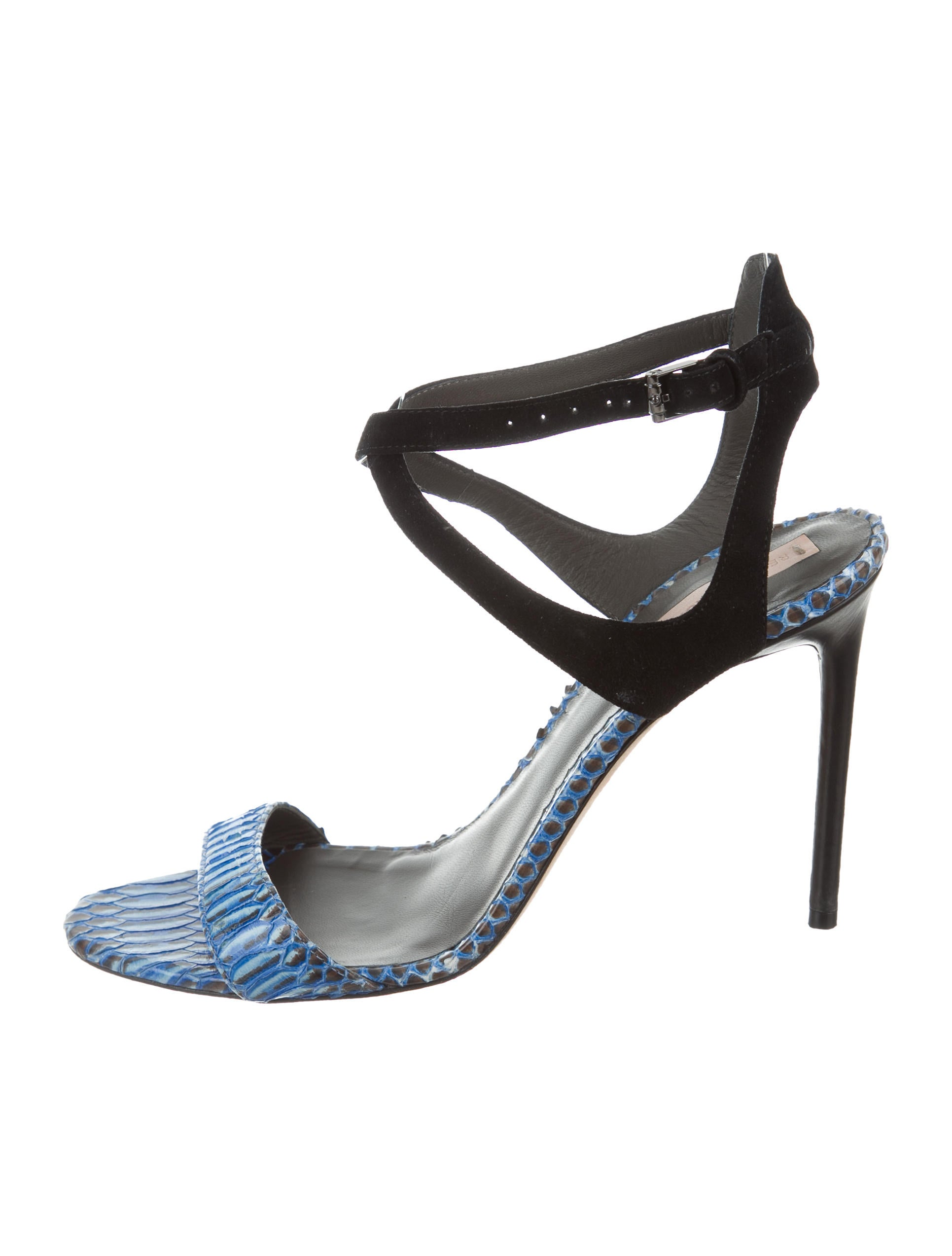 sale cheap sale discount Reed Krakoff Python-Trimmed Suede Sandals buy cheap visit new cheap deals 2015 new cheap online XTBXFvc