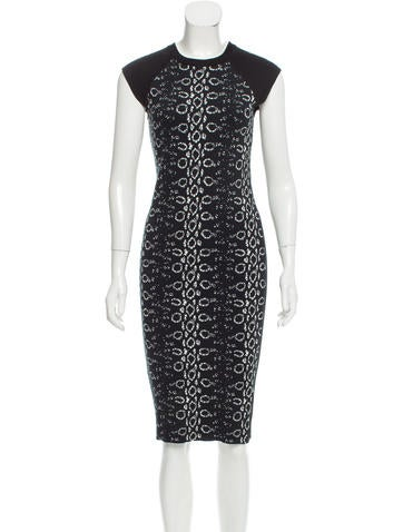 Reed Krakoff Patterned Midi Dress None