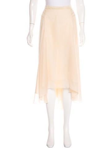 Reed Krakoff Silk Midi Skirt None