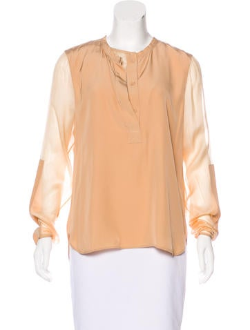 Reed Krakoff Long Sleeve Button-Up Top w/ Tags None