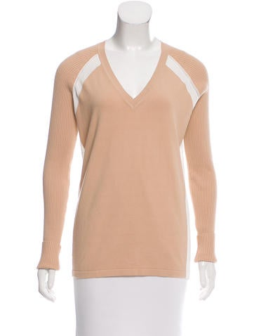 Reed Krakoff Long Sleeve Colorblock Sweater None