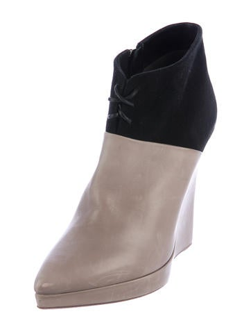 reed krakoff pointed toe wedge boots shoes ree26933