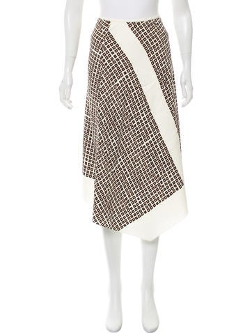 Reed Krakoff Geometric Print Midi Skirt None