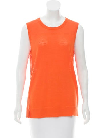 Reed Krakoff Sleeveless Cashmere & Wool-Blend Top None