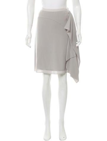 Reed Krakoff Wool Ruffled Skirt w/ Tags None