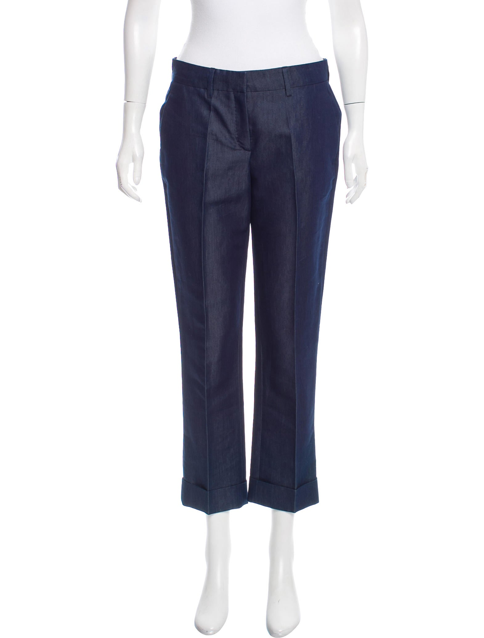 Reed krakoff chambray mid rise pants clothing ree27594 for Chambray jeans