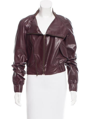 Reed Krakoff Leather Bomber Jacket w/ Tags None