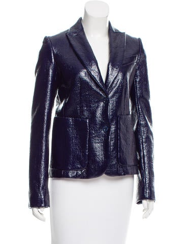 Reed Krakoff Coated Crackle Blazer w/ Tags None