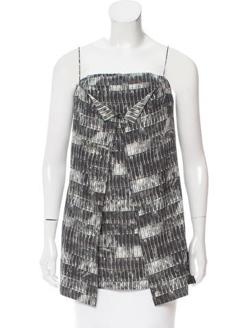 Reed Krakoff Printed Sleeveless Top w/ Tags None