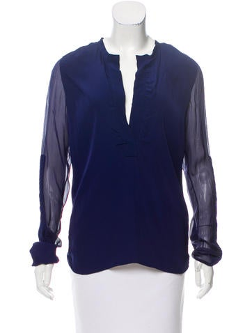 Reed Krakoff Long Sleeve Mesh Top None