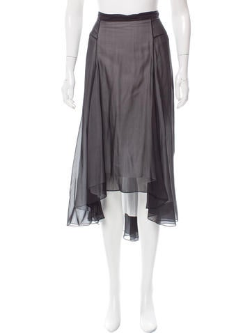 Reed Krakoff Silk High-Low Skirt None