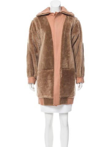 Reed Krakoff Knee-Length Shearling Coat None
