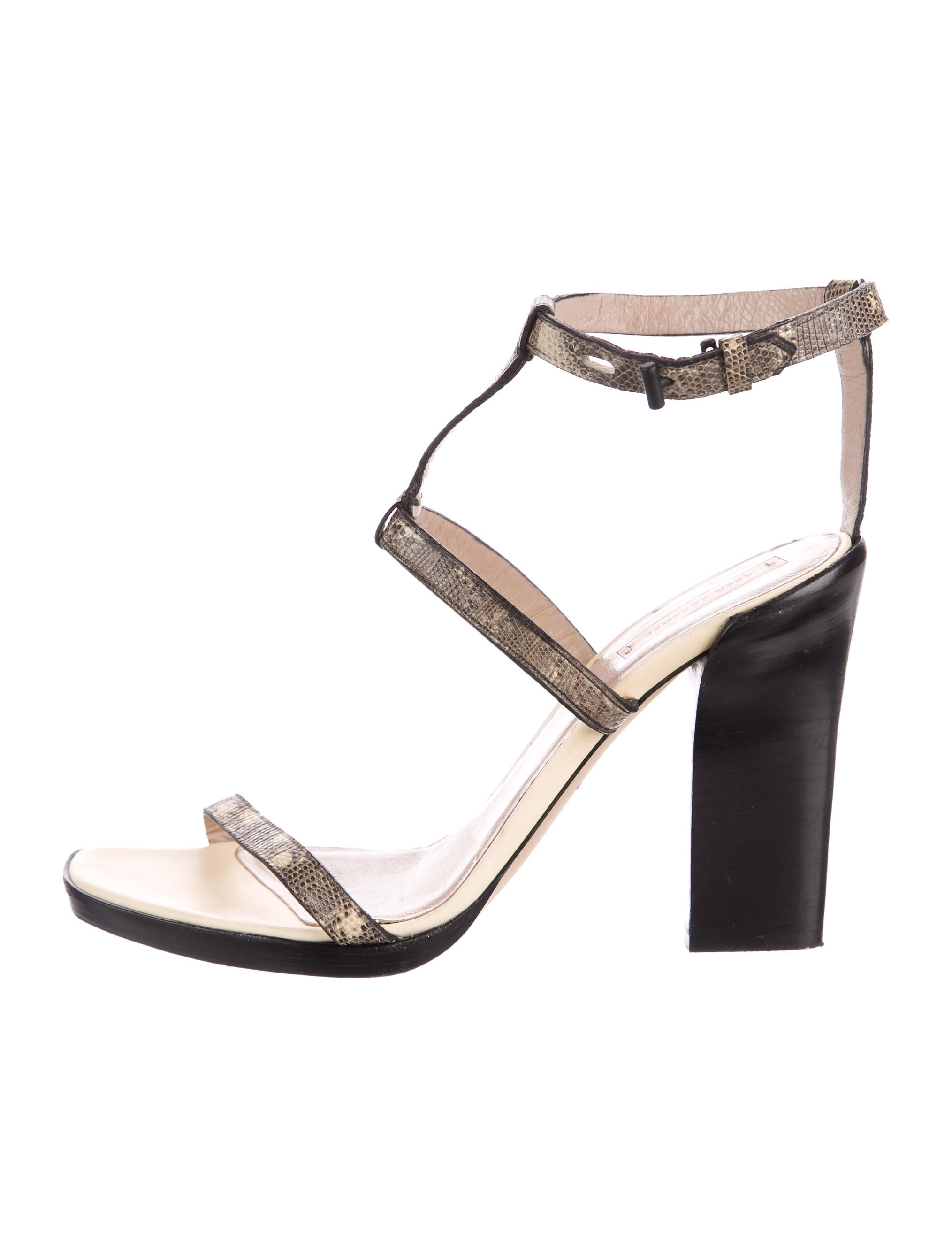 clearance finishline Reed Krakoff Embossed Ankle Strap Sandals outlet pick a best great deals cheap online amazing price online outlet ynlAGkR