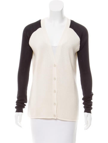 Reed Krakoff Long Sleeve Wool Cardigan None