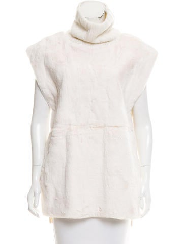 Reed Krakoff Fur-Accented Cashmere Top None