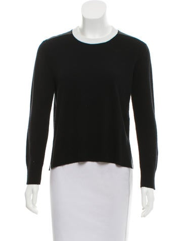 Reed Krakoff Cashmere Leather-Trimmed Sweater None