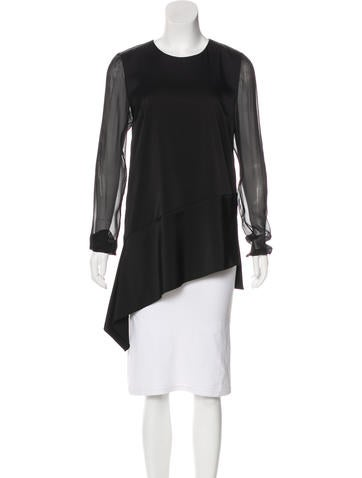 Reed Krakoff Silk Long Sleeve Top None