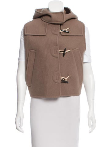 Reed Krakoff Leather-Trimmed Wool Vest w/ Tags None