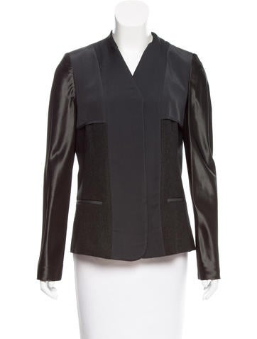 Reed Krakoff Silk-Paneled Wool Blazer None