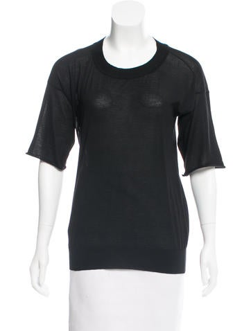 Reed Krakoff Cashmere Short Sleeve Top None