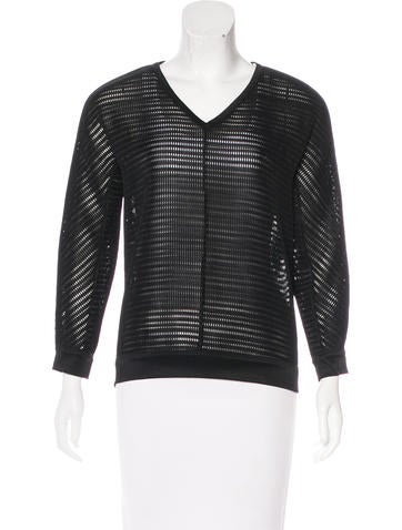 Reed Krakoff Long Sleeve Open-Knit Top None