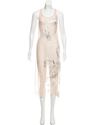 Reed Krakoff Shear Metallic Dress None