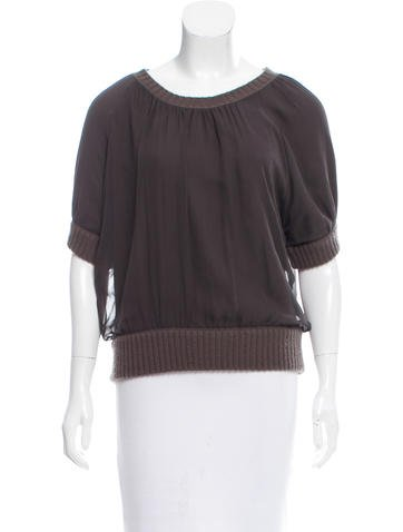 Reed Krakoff Cashmere and Silk Top None