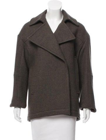 Reed Krakoff Peaked-Lapel Wool Coat w/ Tags None