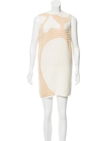 Reed Krakoff Rib Knit Patterned Dress None
