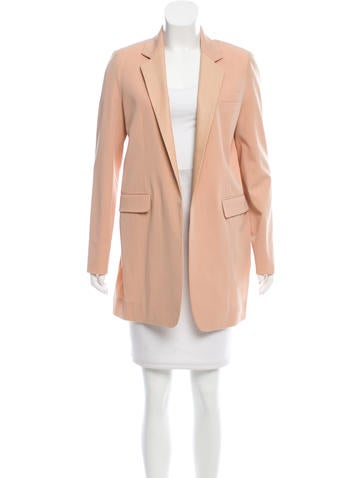 Reed Krakoff Leather-Accented Wool Blazer w/ Tags None