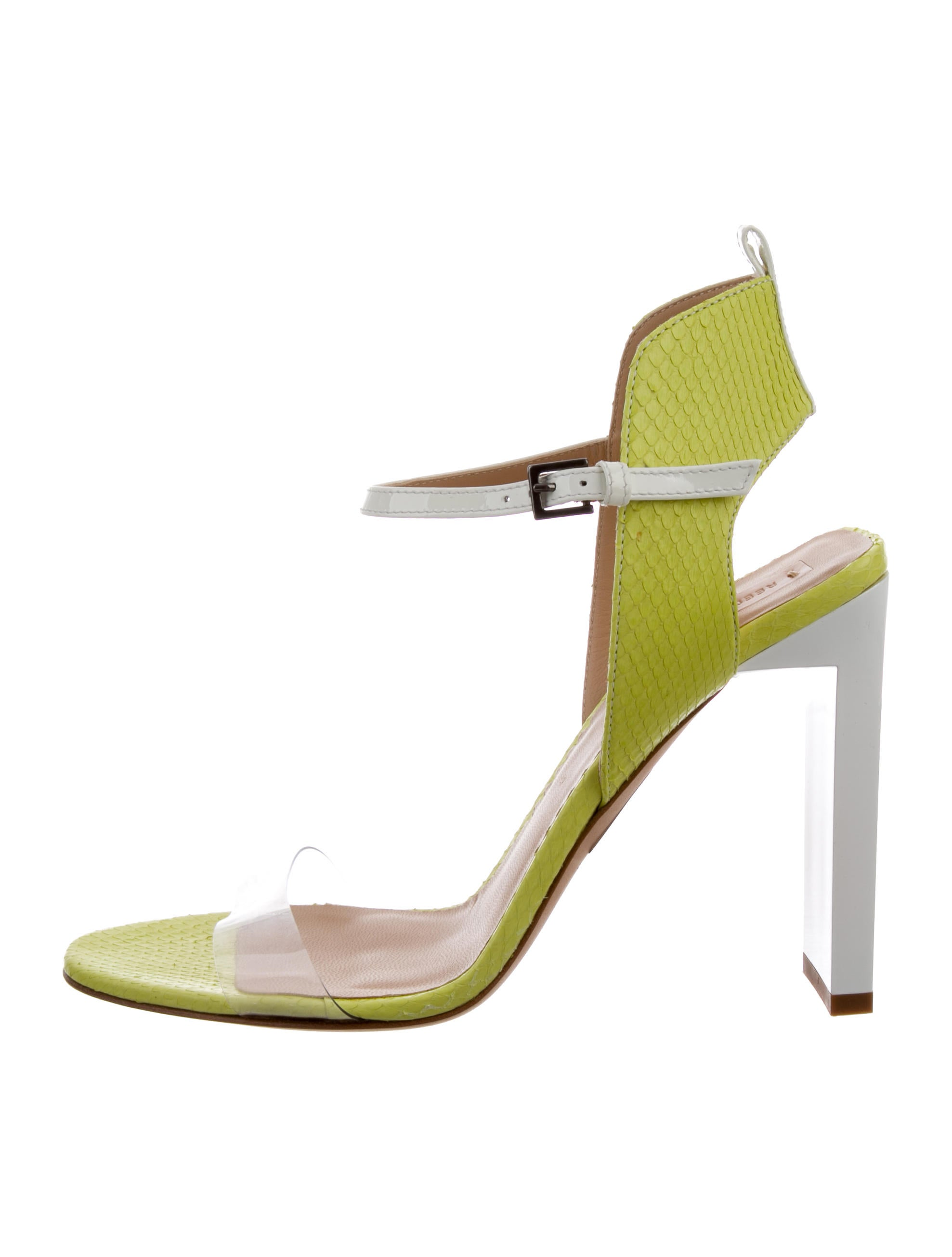 discount under $60 discount wholesale Reed Krakoff Leather Embossed Sandals clearance shop for IuiIFCb