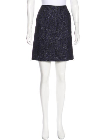Reed Krakoff Metallic-Accented Knit Skirt None