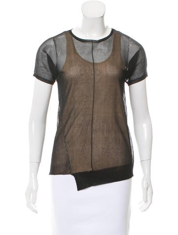 Reed Krakoff Silk Mesh Top None