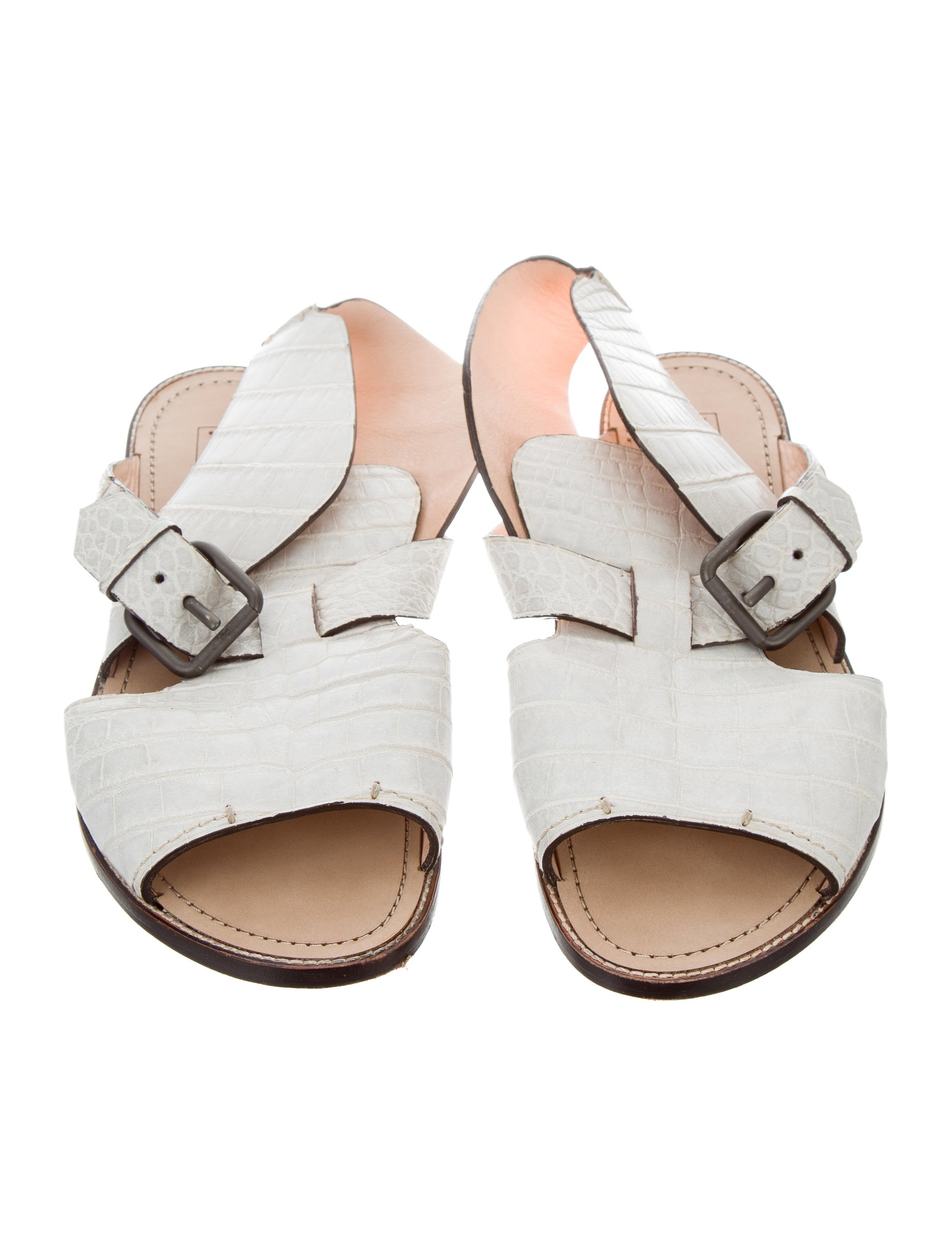 Reed Krakoff Alligator Skin Sandals outlet low price sneakernews sale online get authentic cheap online S5tErCA